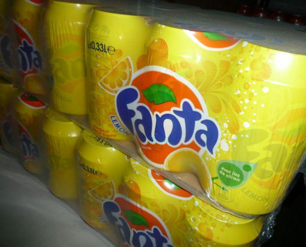 Fanta citron 24x33cl boîtes Image