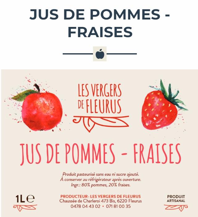 Jus de pomme-fraise Image